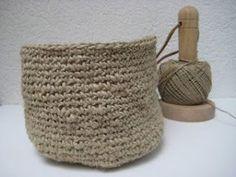 Creatief met touw: mand haken Jute, Chrochet, Crochet Clothes, Straw Bag, Pattern, Crafts, Bags, Knits, Google