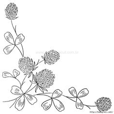 Good drawing for an embroidery project Hand Embroidery Patterns Flowers, Embroidery Motifs, Embroidery Transfers, Hand Embroidery Designs, Vintage Embroidery, Embroidery Thread, Brazilian Embroidery Stitches, Botanical Line Drawing, Quilting Designs
