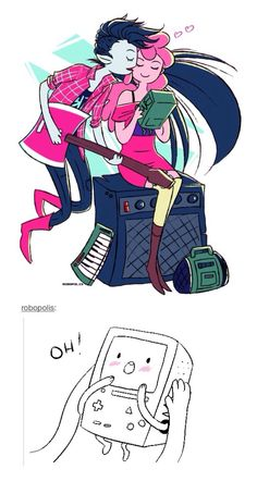 Marceline and Princess Bubblegum Adventure Time Marceline, Cartoon Network Adventure Time, Adventure Time Anime, Cute Gay, Funny Cute, Life Is Strange, Prince Gumball, Marceline And Princess Bubblegum, Land Of Ooo