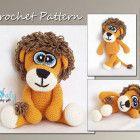 Amigurumi Lion Pattern, Animal Pattern Crochet, Lion Crochet CP-119