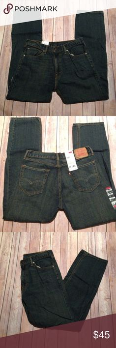 Levi's Straight Fit 505 Jeans Men's Levi's Straight Fit 505 Jeans. Sits at waist - zipper fly - straight leg. W: 34 L: 32 brand new with tags/ NWT Levi's Jeans Straight