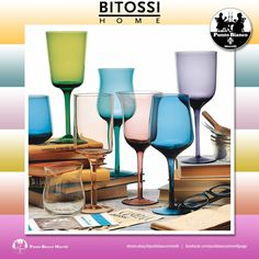 BITOSSI HOME. DESIGUAL Set 6 calici | One set of 6 stem glass