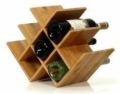 Amazon.com: W Shape 8 Bottle Tabletop Wooden Wine Rack - Natural: Kitchen & Dining $19
