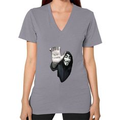 V-Neck (on woman) Anonymous Design