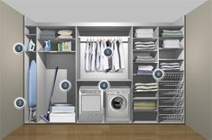 Image detail for -grey fitted sliding wardrobe living area utility room