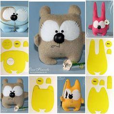Thanksgiving Crafts and Ideas for Kids Felt Crafts, Fabric Crafts, Sewing Crafts, Sewing Projects, Fabric Toys Diy, Diy Cat Toys, Bunny Toys, Sewing Dolls, Felt Toys