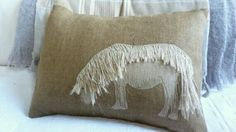 Applique pony cushion