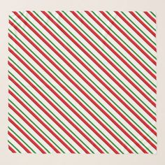Candy Cane Stripes red green and white Scarf - Xmas ChristmasEve Christmas Eve Christmas merry xmas family kids gifts holidays Santa