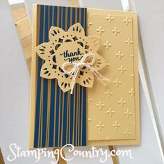 Eastern Palace Thank You Card, Stampin' Up! Card Ideas