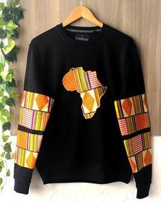 Customized mixed sweatshirt in XL African Fashion Ankara, Latest African Fashion Dresses, African Print Fashion, Africa Fashion, African Wear Styles For Men, African Dresses For Kids, African Print Shirt, African Print Clothing, Couples African Outfits