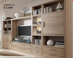 from Gero Wonen - Catalogus 2014 Living Room Bookcase, Living Room Wall Units, Living Room Built Ins, Cottage Living Rooms, Living Room Storage, Living Room Decor, Tv Unit Furniture, Home Furniture, Furniture Design