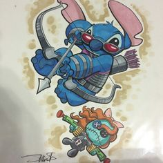 Avengers twist with Stich