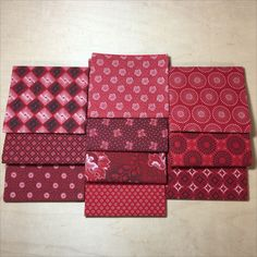 Classic Red Bundle of 10 Fat Quarters Plus Quilt, Fat Quarters, Quilt Patterns, Gift Wrapping, Quilts, Classic, Fabric, Cotton, Red
