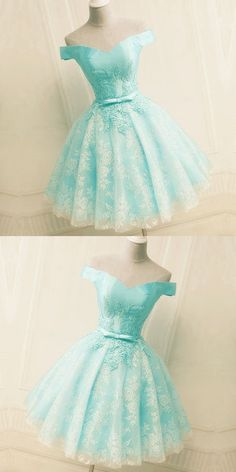 Green Off the Shoulder Appliques Short Homecoming Dress, Tulle Prom Dress, Shop plus-sized prom dresses for curvy figures and plus-size party dresses. Ball gowns for prom in plus sizes and short plus-sized prom dresses for Cute Prom Dresses, Tulle Prom Dress, Grad Dresses, Lace Evening Dresses, Dance Dresses, Elegant Dresses, Sexy Dresses, Beautiful Dresses, Lace Dress