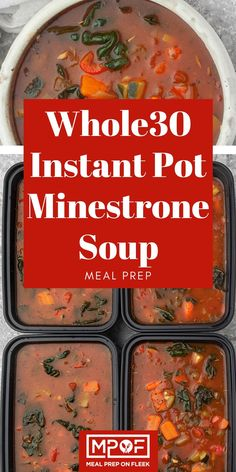 Instant Pot Minestrone Soup - Meal Prep on Fleek Instant Pot Minestrone Soup - Meal Prep on Fleek pot recipes meal prep