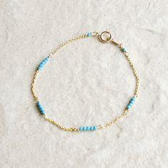 ターコイズのラインブレスレット - deeva - handmade jewelry
