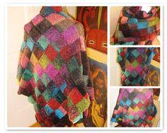 (i made this) triangular entrelac shawl - my own design
