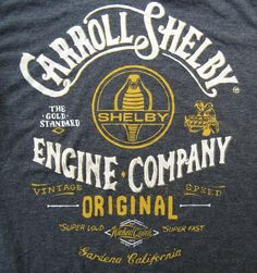 Carroll Shelby Tee typography