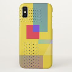 Geometric retro style in new look summer edit iPhone x case - pattern sample design template diy cyo customize