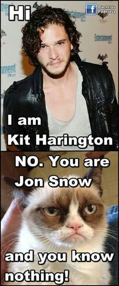 Jon Snow . This really shouldn't make me laugh and yet it does.