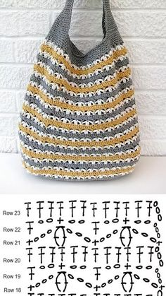 Crochet Patterns Bag Slouchy Market Bag, free pattern from Very Berry Handmade.Luty Arts Crochet: Taschen in Crochet + Graphics. - Asuman Dogan - - Luty Arts Crochet: Taschen in Crochet + Graphics.Crochet Patterns Bag Did you send it well? I am going Bag Crochet, Crochet Market Bag, Crochet Diy, Crochet Handbags, Crochet Purses, Crochet Chart, Love Crochet, Crochet Clothes, Crochet Stitches