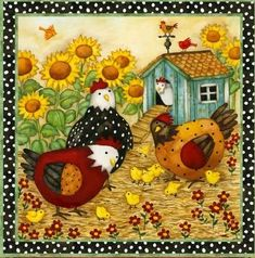 Garden Flag Chicken Coop - Chicken Garden Decorations: Presents for Chicken… Chicken Crafts, Chicken Art, Decoupage Vintage, Chicken Coop Garden, Chicken Coops, Chicken Quilt, Chickens And Roosters, Country Art, Flag Country