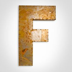 Letter F Large. Watson & Co.   Industrial Metal Letter Signs