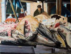 La pescheria di Rialto a Venezia