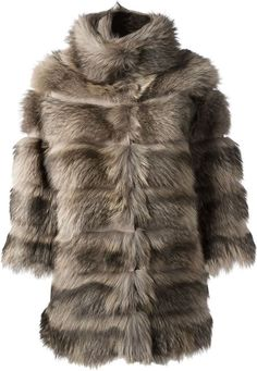 S.W.O.R.D. racoon fur coat on shopstyle.com