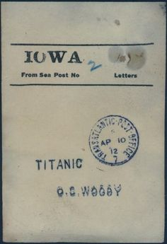Mr. Woody was the mail clerk on the Titanic.