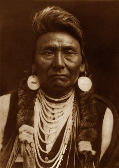 Chief Joseph - Nez Perce, 1903, by Edward S. Curtis. Leader of the Nez Perce Native American tribe that resided in the northwestern region of the country.