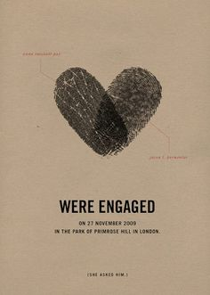 Cute save the date/engagement announcement