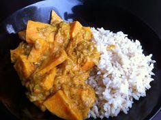 Curry met rabarber