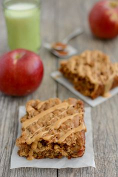 These Apple Cinnamon Breakfast Bars are easy, kid-friendly and full of protein and fiber. They make a healthy breakfast or snack and can be eaten on-the-go!