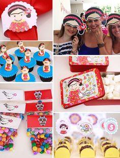 Cumpleaños de Frida Kahlo Partido de Frida Kahlo por Layouteria