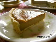 """Coffee Cheesecake Tart! """"This cheesecake tart is full of fragrant coffee and only mildly sweet How about making this for Valentine's Day? Recipe by Gomamaron""""  @allthecooks #recipe"""