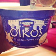 My mornings! #greekyogurt #greek #yogurt #oikos #vanilla #food #yummy