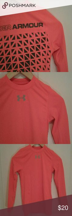 NWOT Under Armour boys shirt Brand new, never worn boys fitted cold gear long sleeve Orange t-shirt with back print detailing. Under Armour Shirts & Tops Tees - Long Sleeve