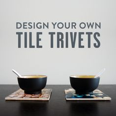 Design cute tile trivets with your own photos!