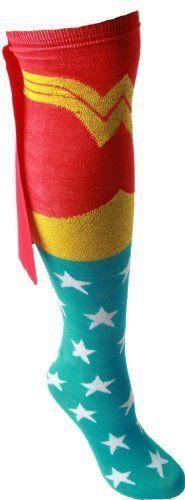 Wonder Woman Superhero Red Adult Knee High Cape Sock DC Comics,http://www.amazon.com/dp/B007AK1LW4/ref=cm_sw_r_pi_dp_kHM-rb1RCPMERARY