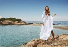 The Marie Maxi by Melissa Odabash #whitemaxi #beach #coverup #swim #bikini #ocean #beauty