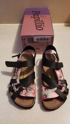 cfd2dedcc991be Papillio Birkenstock slip-on Sandals Black Marbella Floral Womens 5L US UK  36  fashion