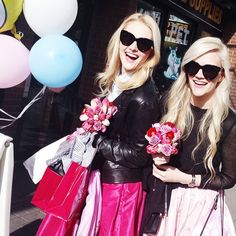"""""""Balloons, flowers, and goodie bags! Thank you @pinkshirtday for hosting such a lovely lunch with so many lovely ladies   #partyskirts #skotapparel…"""""""