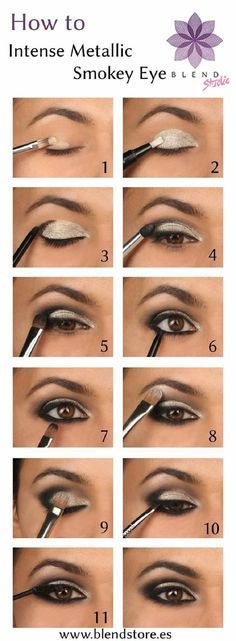 DIY Intense Metallic Smokey Eye - 15 Best Beauty Tutorials for Winter 2014-2015 | Pinterest @Kendra Kaye follow me for more pins like this!