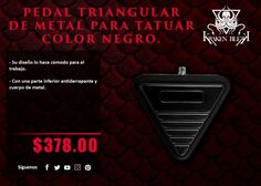 Kraken Blekk: Pedal Triangular de metal color negro - ¡Disponible en Kichink!