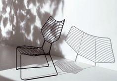 Contemporary chair / metal / garden ALIENO by Gamfratesi CASAMANIA