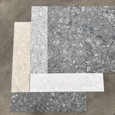 Loving the new Retro terrazzo look - Italian tile available in 4 colours 600x600 300x600 and my fav 150x600 #tile #tiles #tilepowergregoryhills #tpghtiles #tileideas