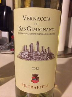 Wine from San Gimignano, Italy.Visited this  winery and can get this in the states