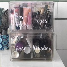 Our Clear Stackable Large Shoe Drawer provide visible accessibility for closet organization. Bathroom Organisation, Bathroom Storage, Small Bathroom, Master Bathroom, Bathroom Ideas, Medicine Cabinet Organization, Rental Bathroom, Bathroom Canvas, Silver Bathroom