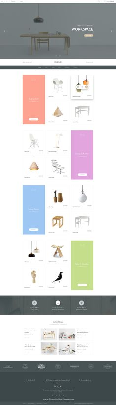 FURQUE is a clean, simple and modern Creative Multiconcept PSD Template for Furniture Store or any eCommerce websites.